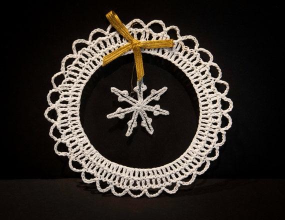 Vintage Handmade Crocheted Christmas Ornament #2