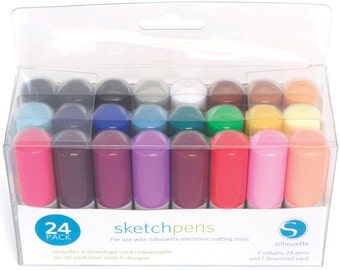 Silhouette Sketch Pens  24 Package