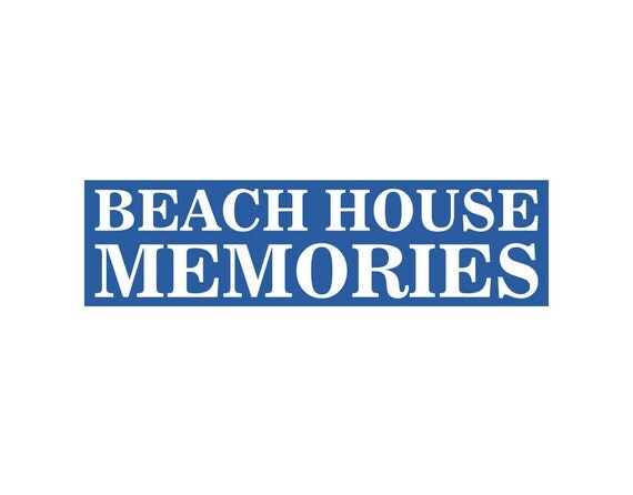 Sign stencil beach house memories 6 x 22 make your own for Build your own beach house