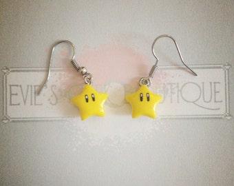 Super Mario Star Earrings