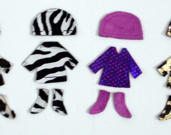 Dress-Up Flat Doll Jacket/Hat/Boots