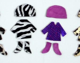 Dress-Up Flat Doll Jacket/Hat/Boots