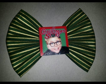 A Christmas Story fabric bow