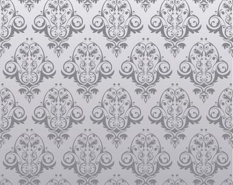Photo Booth Vinyl Damask Gray Backdrop Food Photography, Newborn Photography - 3ft x 3ft ~ FREE SHIPPING