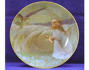 "Precious Moments 1979 Collector Plate ""A Friend In The Sky"" 1st Edition Viletta Artist Thorton Utz"