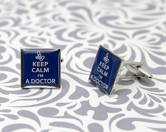 ON SALE Keep Calm I'M A Doctor Cufflinks Gift
