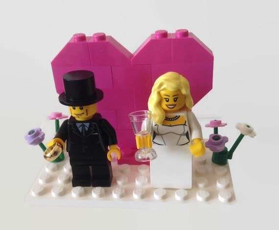 lego wedding cake toppers lego wedding cake topper pink gift favor by 16791