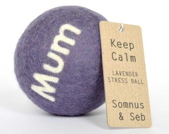 Mother's Day Stress Ball - Keep Calm relaxation gift. First Mother's Day gift. Dried lavender filled stress and anxiety relief fidget toy.