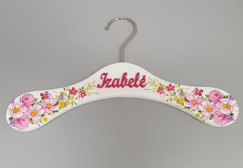 Decorated Wooden Hanger Hanger For Baby Clothes Kids Hanger