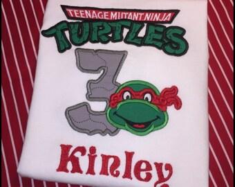 Teenage Mutant Ninja Turtles Birthday Applique Shirt