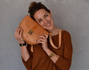 Handcraft bag/ Natural leather bag/ Leather bag/ Handmade/ Leather bag/ Shoulder bag
