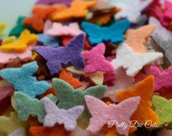 Mini Felt Butterflies, Multi coloured butterfly packs, Die Cut Craft Embellishments