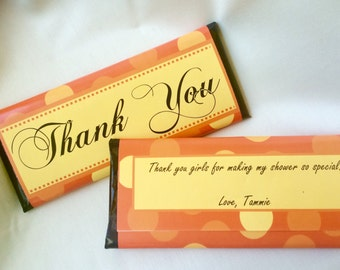 Thank you favors, Custom candy wrappers, Personalized gift, Thank You gift, Anniversary, Corporate gifts, Personalised Favours, Teacher Gift
