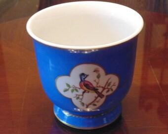 Vintage Blue Bird Planter