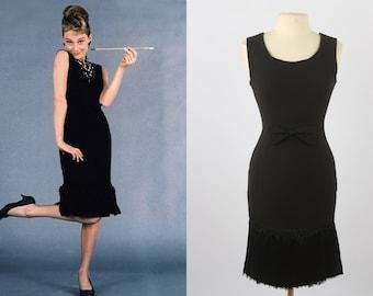 Audrey Hepburn Breakfast At Tiffany's Black Tassel Dress