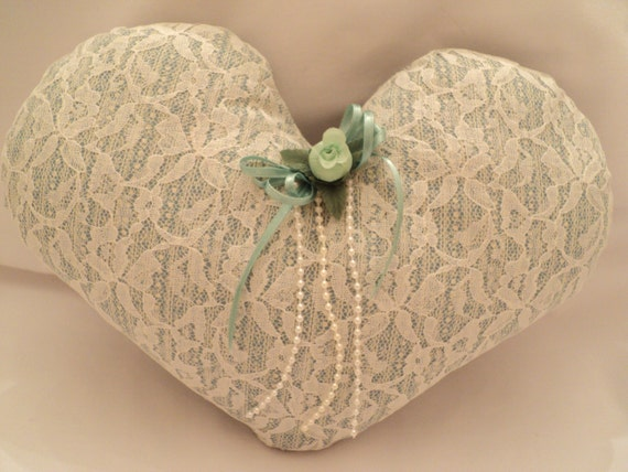 Victorian Heart Throw Pillows : Heart Pillow Stuffed Heart Victorian Pillow Shabby Chic
