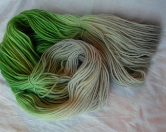 Grass and Stone - Worsted- Hand-Dyed / Hand-Painted Yarn - Superwash Merino Wool - Ready to Ship