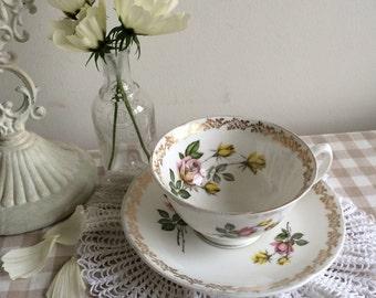 Vintage Royal Grafton Fine Bone China Teacup and Saucer, Perfect Gift