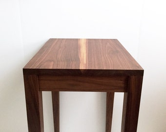 Walnut Side Table - Tapered Leg Walnut Table - Walnut End Table