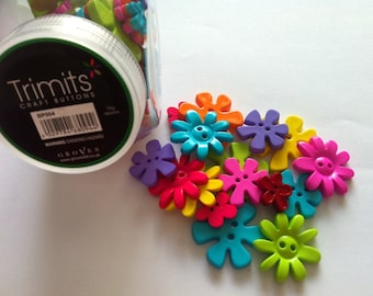 Trimits flower buttons, approximately 75g jar