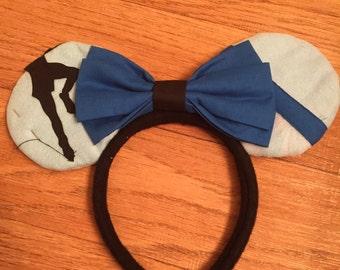 Wendy Darling Mickey Ears, Peter Pan Ears, Custom Disney Inspired Ears