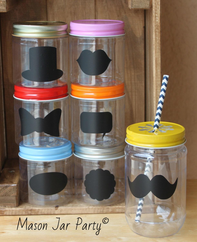Wedding Plastic Mason Jars 10 Plastic Mason Jar Cups