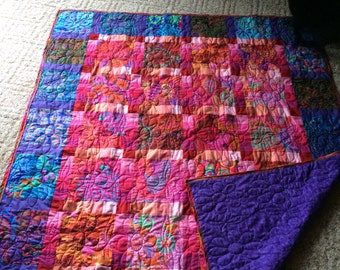 Floral Quilted Throw