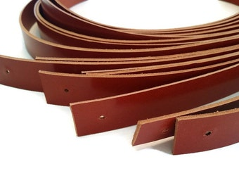 2 cm/ 0.78 inches/ 1 pair of genuine brown leather straps, leather handles, purse straps, bag straps,bag handles, craft supplies, anses cuir