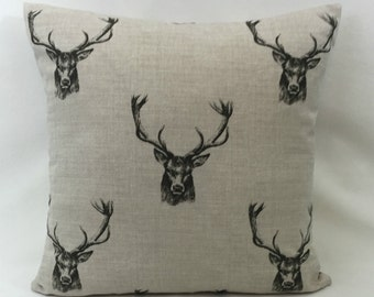 "Fryetts Stag Cushion Cover 20"" x 20"" Double Sided Fully Reversible"