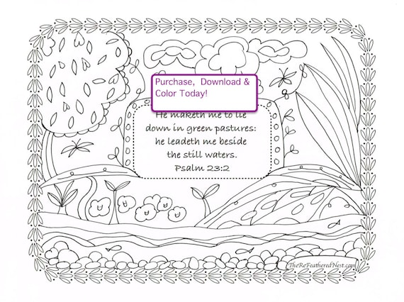 psalms 23 printable coloring pages - photo#19