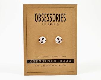 Soccer Ball Jewelry Soccer Earrings Stud Earrings Post Soccer Jewelry Soccer Accessories Soccer Player Soccer Team Sport Soccer Gift Idea