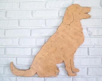 Golden Retriever Vintage Wooden Dog Sign Golden Retriever Wall Art #5004