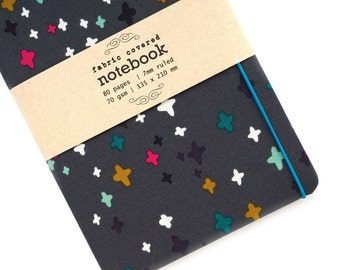 Multicolor Plus Fabric Covered Notebook