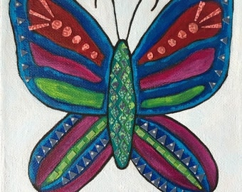 Butterfly blue/purple