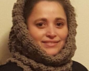 Crochet Chunky cowl, crochet cowl, handmade cowl, circle scarf, handmade, gift for her, infinity cowl