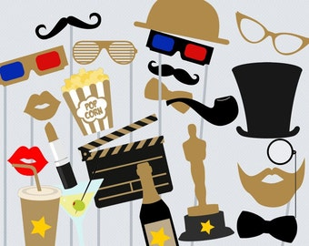 Print Yourself Hollywood Star Photo Booth Party Props