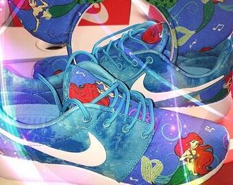 """Ariel's """"The Little Mermaid"""" Disney Nike Roshe"""