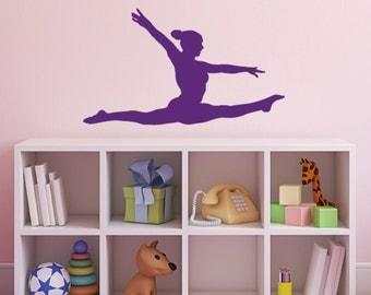 Gymnast Wall Sticker - Gymnastics Splits Wall Sticker