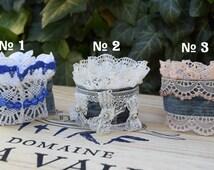 Denim cuff, Boho Cuff Bracelet, lace Bracelet, Recycled Denim Jewelry, Lace Cuff Bracelet, Rustic Jewelry