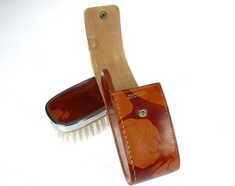 Vintage Leather Clothes Brush - Made in England - Grooming Kit