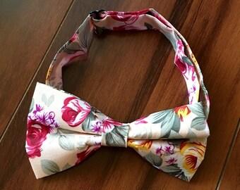Vintage Rose bow tie