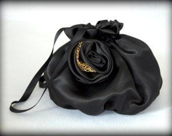 Black bag with rose