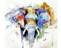 Temporary Tattoo Watercolor Elephant, Hummingbird, Cat, Giraffe - Paint, Skin, Body Art, Ink, nature, Pick your style Pick a size, Nature