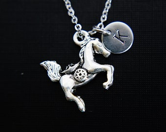 Running Horse Necklace Silver Horse Necklace Personalized Jewelry Christmas Necklace Christmas Jewelry Holiday Jewelry Holiday Necklace