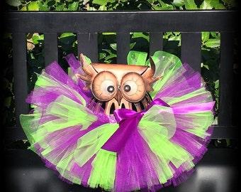 Clearance, Baby Tutu, Infant Tutu, Purple And Green Tutu, Witch Tutu, Newborn Tutu, Halloween Tutu, Purple Neon Green, Halloween Costume