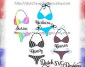 Bikini cutting file in Jpg Png SVG EPS DXF, for Cricut design space, Silhouette, bikini svg, summer svg, beach svg, good times svg, bows svg