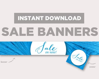 Shop Sale Banner | INSTANT DOWNLOAD | Avatar + Store Banner | Wooly | EB158