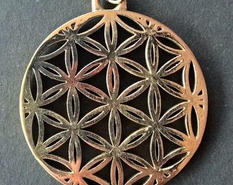 Bronze Flower of Life Pendant