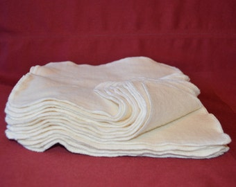 "SALE!!! Set of 24- 8"" x 8"" Organic Soft Bamboo Cotton Fleece Wipes- Baby Wipe, Wash Cloth, Facial Wipes"