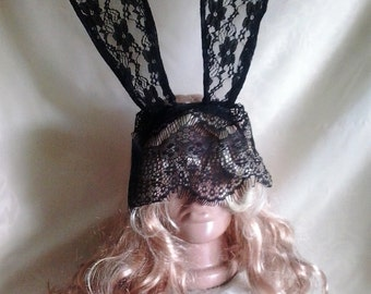 Rabbit mask with ears from Alice in Wonderland